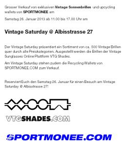Flyer Vintage Saturday 26. Januar 2013
